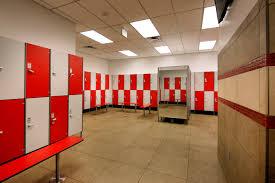 interior inspiring locker room design with and white lockers