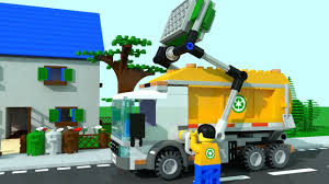 Lego City Garbage Trucks For Children, Kids. Garbage Truck Cartoon ...