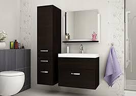 badmöbelset badezimmer doris hochglanz weiß wenge