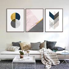 100 Modern Minimalist Decor Abstract Living Room Wall Art Nordic Style Geometric Marble Gold Fine Art Canvas Prints For Scandinavian Interior Home