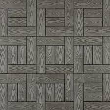 Kontiki Deck Tiles Canada by Vifah V182 Eucalyptus 12 Diagonal Slat Interlocking Deck Tile In