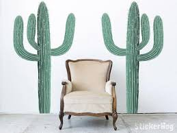 kaktus wüste kakteen natur 2 wall decals grafik vinyl aufkleber schlafzimmer wohnzimmer raum wand home dekor