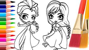 Coloring Pages Disney Princess Frozen Elsa And Anna Book For Children By Haus Toys