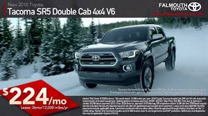 2018 Toyota Tacoma SR5 Double Cab Truck Lease | Cape Cod | Falmouth ... 2018 Toyota Tacoma Pickup Truck Lease Offers Car Clo Vehicle Specials Faiths Santa Mgarita New For Sale Near Hattiesburg Ms Laurel Deals Toyota Ta A Trd Sport Double Cab 5 Bed V6 42 At Of Leasebusters Canadas 1 Takeover Pioneers 2014 Hilux Business Lease Large Uk Stock Available Haltermans Dealership In East Stroudsburg Pa 18301 Photos And Specs Photo