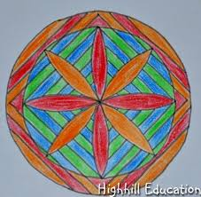 Heres A Photo Summary Of Mandala Creation Ideas Please Visit My Math Page For More Information On Creating Mandalas With Compass And Straight Edge