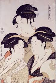 Famous Japanese Painting Of Three Beautiful Woman