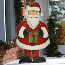 Rustic Wooden Santa Statue 48 In Christmas Decoration CraftsHoliday DecorationsHoliday