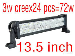 13 5 inch 3w cree x 72w led light bar driving light led light bar