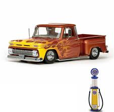 Diecast Car & Gas Pump Package - 1965 Chevy C-10 Stepside Lowrider ... 1965 Chevy Truck Flowmasters Sound Good Youtube Chevrolet C10 Volo Auto Museum Chevy Coe Pickup Scaledworld First Gen A Flawless Transformation Fuel Curve Apache Stepside Eric Lmc Truck Life Chevy Short Bed Step Side Patina Paint Hotrod Restomod Shop Short Bed Step Side Kenny H Great Rust Free Patina Paint Pickups Panels Vans Modified Oxford Chevrolet Blue Diecast Metal 187