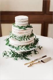 04 Spring Inspired Semi Naked Wedding Cake With Fresh Greenery