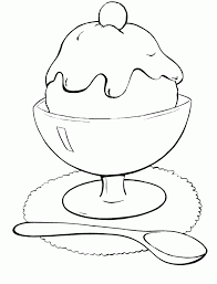 Ice Cream Scoop Coloring Page Images Pictures