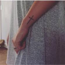 Side Wrist Cross Tattoo
