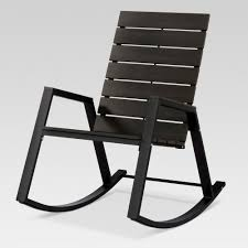 Modern Outdoor Project 62 Bryant Faux Wood Patio Rocking Chair Black ...