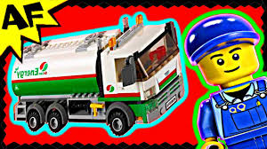 100 Lego City Tanker Truck TANKER TRUCK 60016 Animated Building Review YouTube