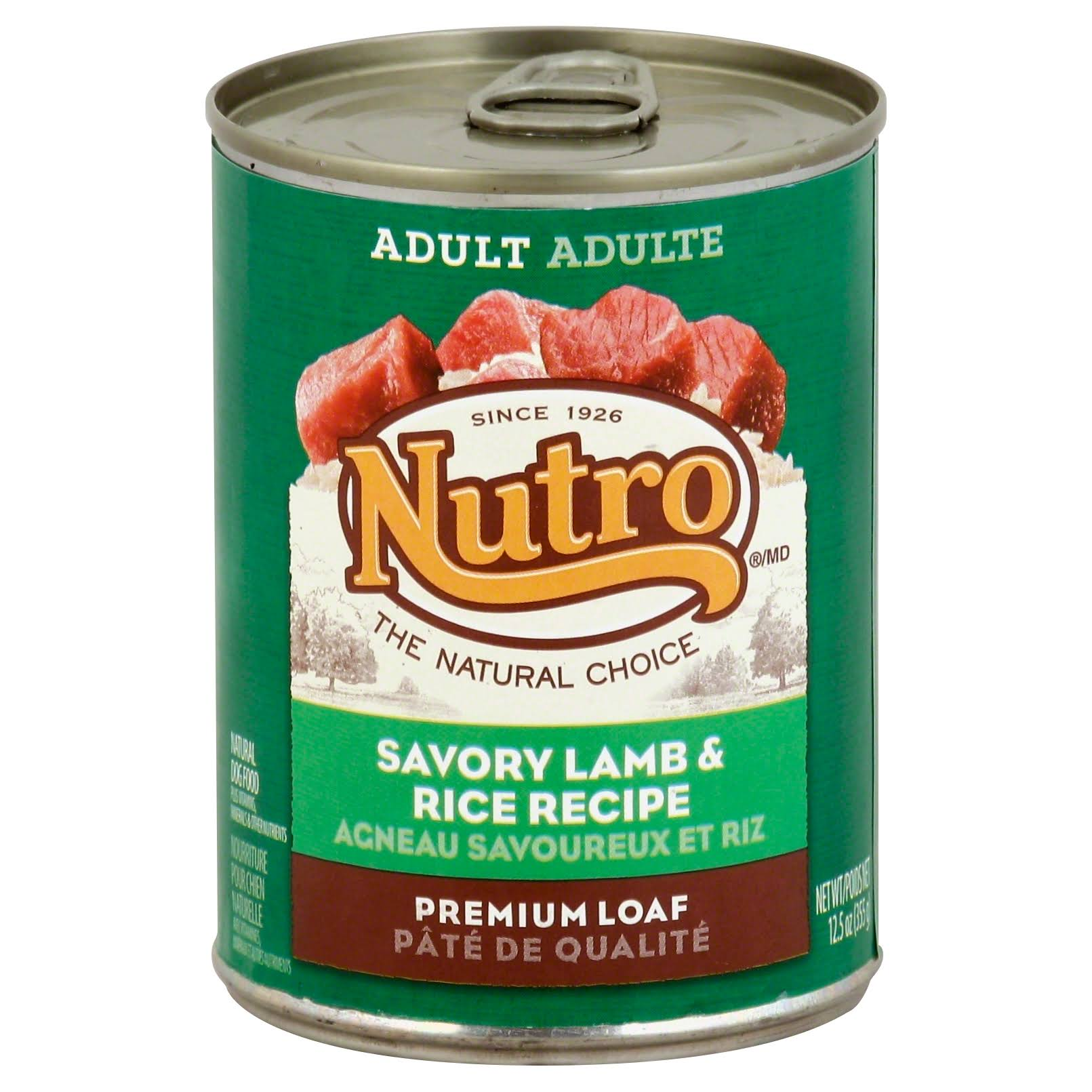 Nutro Natural Choice Dog Food - Lamb & Rice Formula, 355g