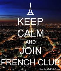 KEEP CALM AND JOIN FRENCH CLUB Poster