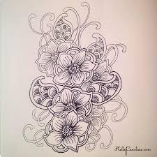 Drawn Mehndi Tatto 12