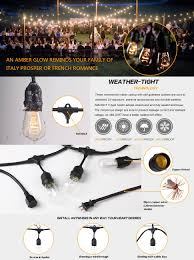 Westinghouse Pre Lit Christmas Tree Replacement Bulbs by Outdoor Commercial String Lights Amlight 24 Ft Heavy Duty