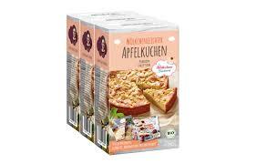 bio backmischung apfelkuchen 3er pack