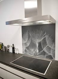 Soft Dandelion Heads Printed Glass Splashback From DIYSplashbackscouk