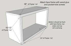 Standard Kitchen Cabinet Depth by How To Build A Custom Cabinet Base For A Bookcase