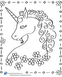 Fairy Tale Unicorn Coloring Pages