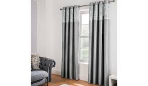 Faux Silk Eyelet Curtains by Silver Sequin Faux Silk Eyelet Curtains Home U0026 Garden George