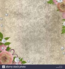 Vintage Background Rose Pearl Lace