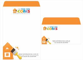Arte E Diagramacao De Envelope Saco Carta Para Grupo Tom Das Cores