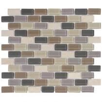 Jeffrey Court Mosaic Tile by Jeffrey Court Yukon Cliff Brick 11 75 In X 10 5 In Glass