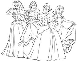 Kids Coloring Disney Princesses Colouring Pages Free At Stunning Printable Princess Ideas