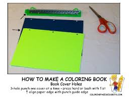 02 Book Cover Holes How To Make A Coloring At YesColoring