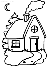 Houses And Homes Color Page Coloring Pages For Kids
