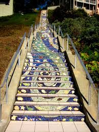 16th avenue tiled steps address 16th tiles stairs to diffuse graffitti 22nd jungle