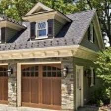 Blooming Luxury Garage Doors Decorating Ideas with Detached Wood