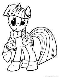 Excellent My Little Pony Coloring Pages Twilight Sparkle Awesome Color Books Ideas