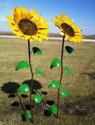67 Recycled Metal Giant Sunflower Stake