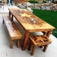 Simple Wood Pallet Dining Table Set