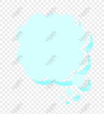 100 Flat Cloud Vector Cartoon Flat Cloud Blue Border Larawan_Numero Ng