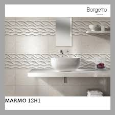 marmo12h1 china unique feature white wall tiles wave surface for