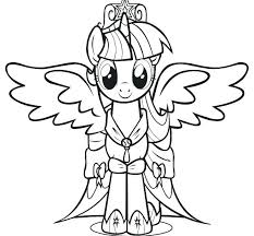 Twilight My Little Pony Coloring Pages Page Baby Sparkle