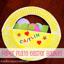 Paper Plate Easter Basket We Had Mommy Me Book Club Last Week And I Planned To Do This Craft Activity With The Kids But Ended Up Skipping It