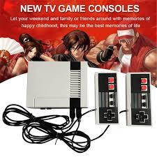 rétro enfance mini tv de poche console de jeu vidéo pour nes jeux