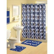 Modern Bathroom Rugs And Towels by Royal Navy Blue Modern 17 Piece Bathroom Set Bath Rugs Shower