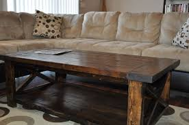 Attractive Rustic Coffee Tables Farmhouse Style X Table Do It Yourself Home