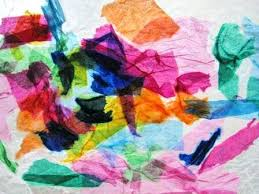 Art Tissue Paper Stained Glass Craft Project For Kids