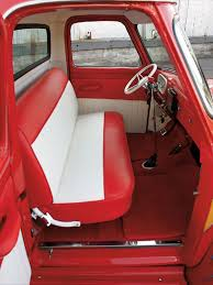 1954 Ford F100 Interior View Red And White Seats | Ford Truck ... Cerullo Seats Chevrolet Truck Front 3point Seat Belts For Bench Morris Classic Console Shorty Custom Car Best The Easy Rider Truck Bench Upholstery 1953 Etsy 1966 C10 Studio Chevrolet Chevy C10 Custom Pickup American Truckamerican 1949 Pickup Built By Dp Updates Trick60 1960 Plus On Twitter Tmis Reveal Of Classic Interior Inside Cabin Stock Photo Edit Now 633644693
