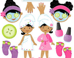 Spa Party Clipart Free