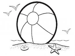 Beach Ball Coloring Page Printable