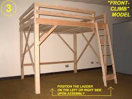 Loft Bed Woodworking Plans by Free Woodworking Plans To Build A Full Sized Low Loft Bunk The At